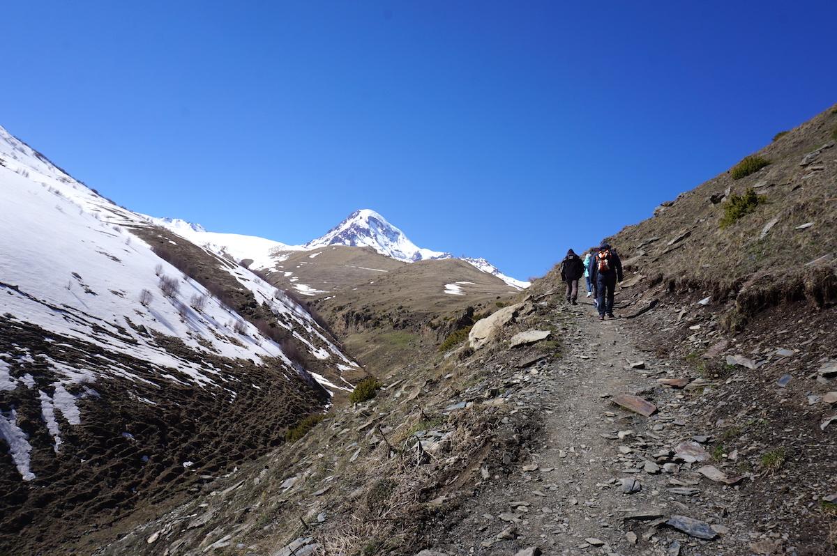 Kaukasus, Wandern zum Kvemi Mta