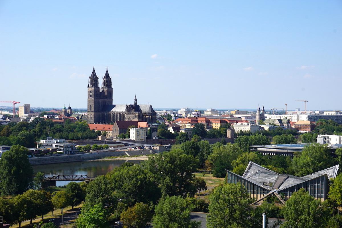 Magdeburg Blick vom Albinmüllerturm
