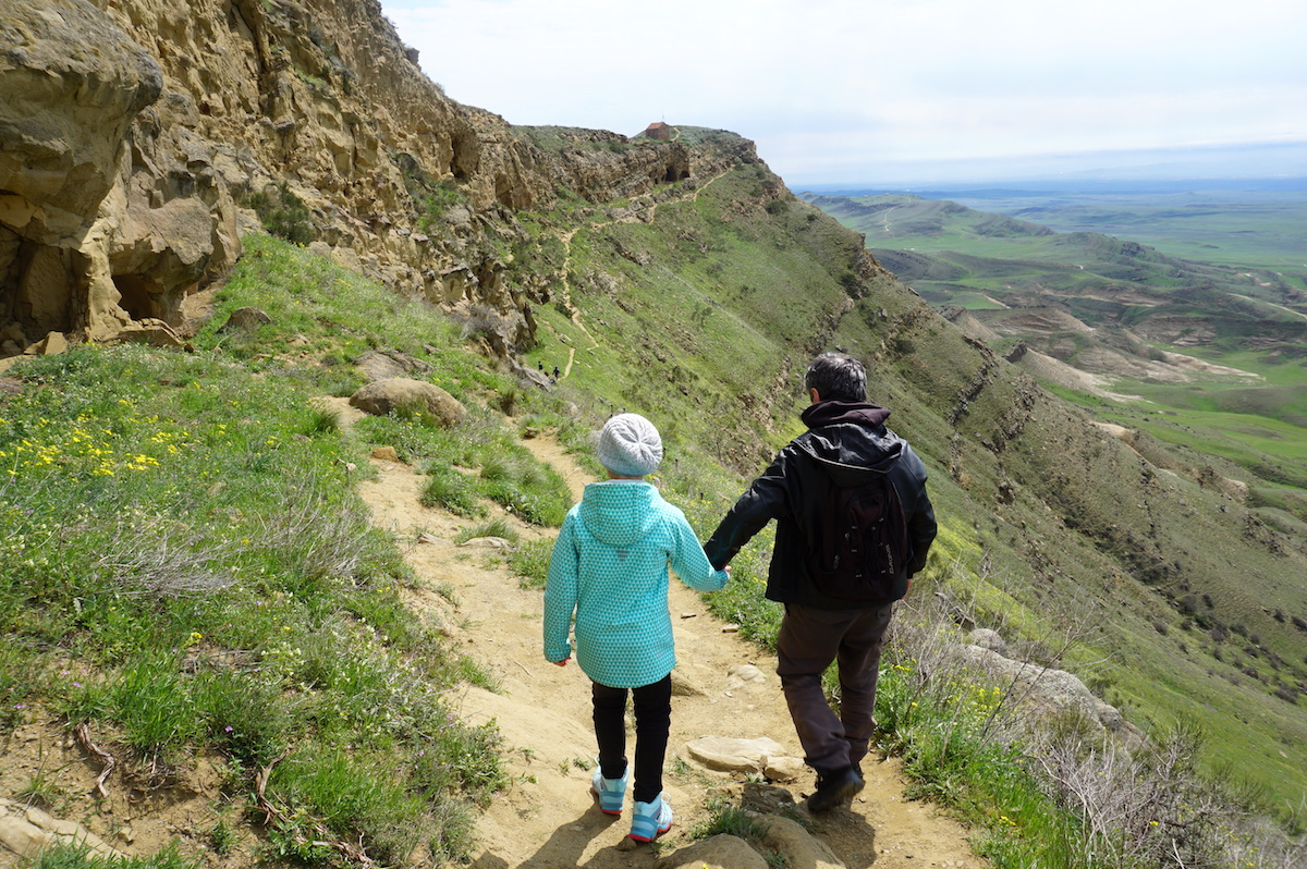 Georgien mit Kindern, Wandern in Davit Gareja