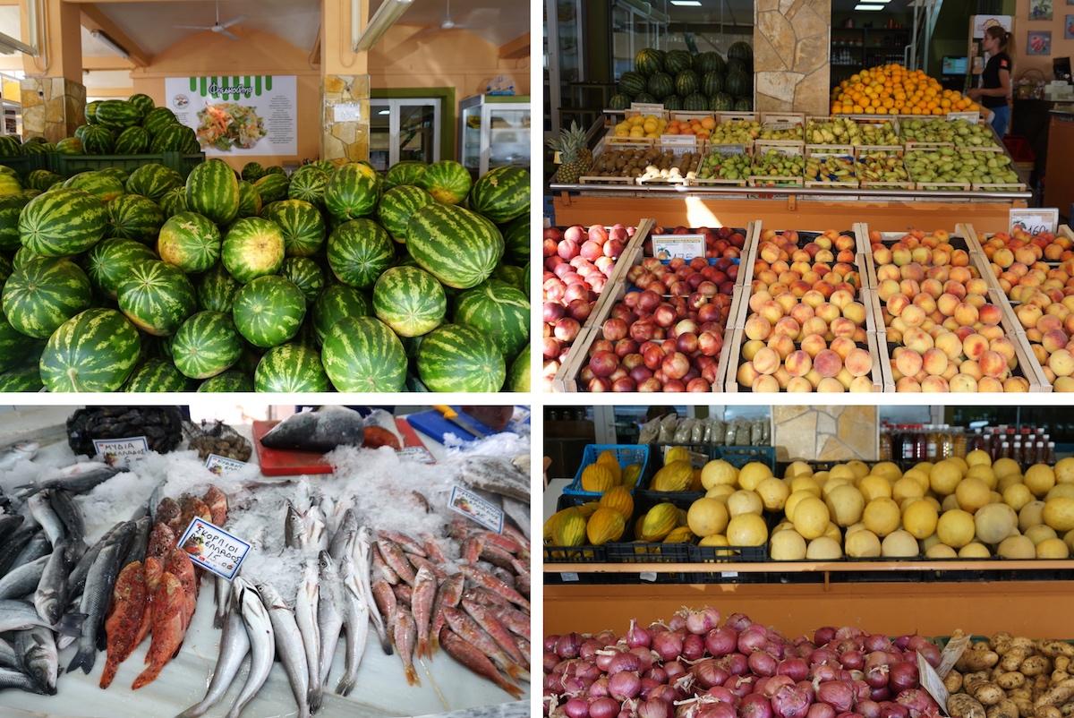 Argostoli, Kefalonia, Markt am Hafen