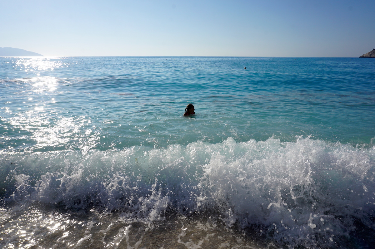 Mirtosbucht Kefalonia: Mirtos Beach