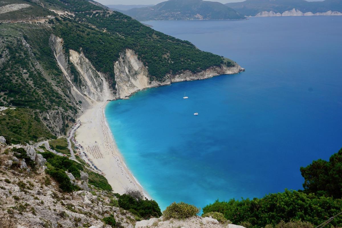 Myrtos Beach Kefalonia (Mirtosbucht)