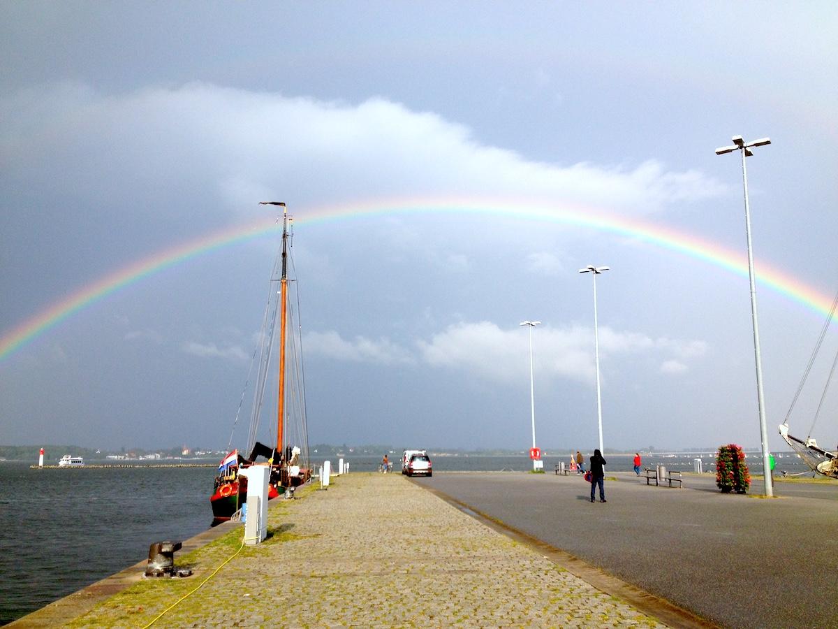 Regenbogen in Stralsund, Mecklenburg Vorpommern