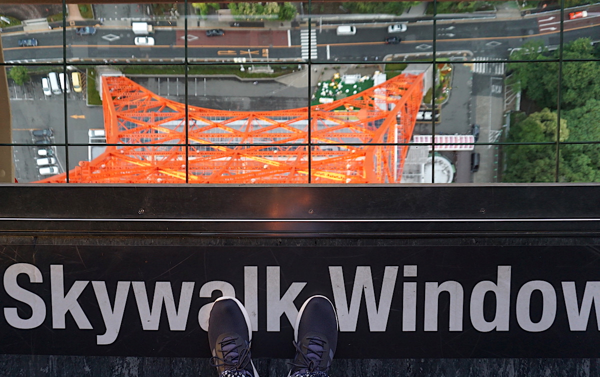Blick vom Tokio Tower, Skywalk Window