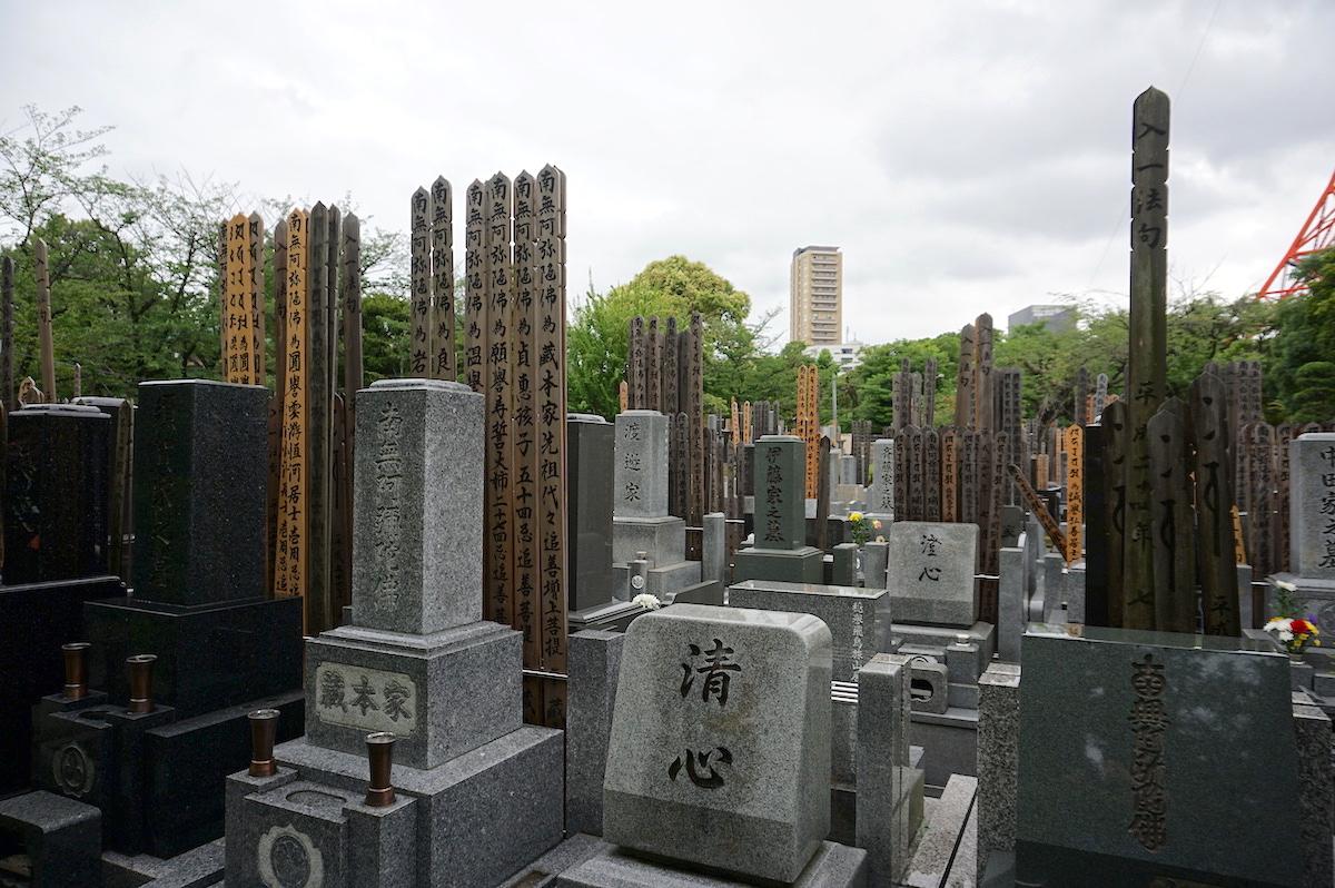 Tokio, Zojo-ji, Friedhof