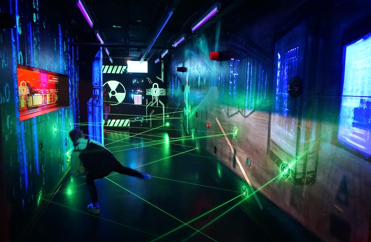 Spionagemuseum Berlin, Laserparcours