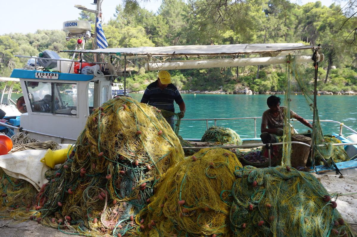 Fischer in Gaios, Insel Paxos